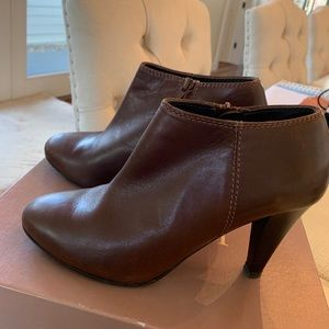 J. Crew Brown Leather Booties 7.5